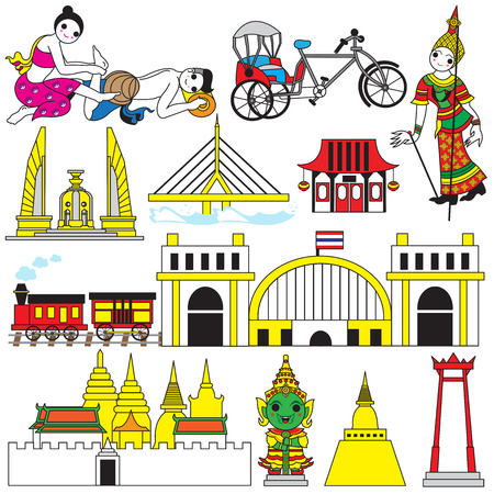 poppet: Thai icons and symbols illustration set Illustration