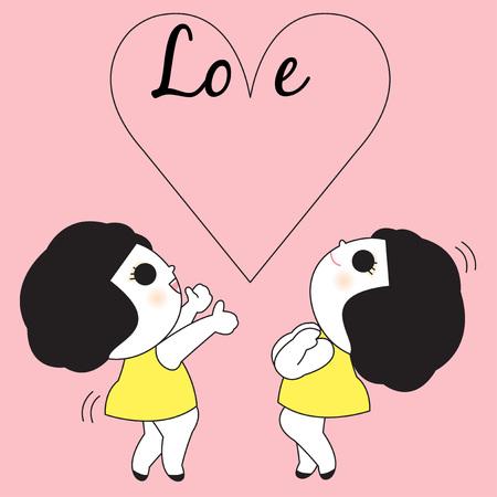 Love Card Character illustration Illustration
