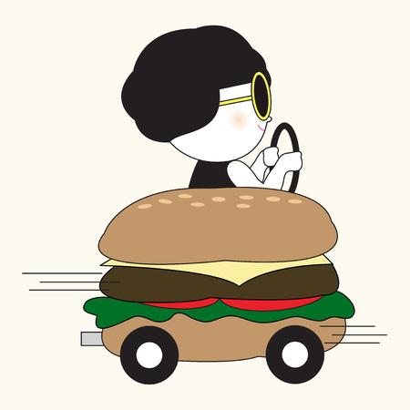 buns: Morning Ride Card Character illustration