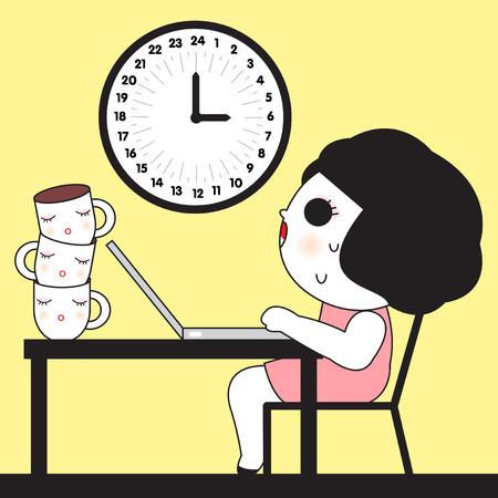 workaholic: Beast Mode On Workaholic illustration