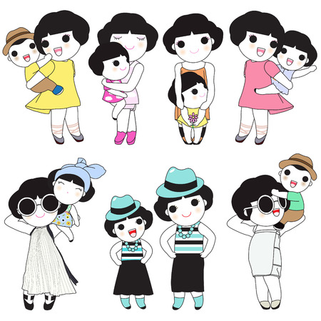 cousin: Beloved Mom And Me Character illustration