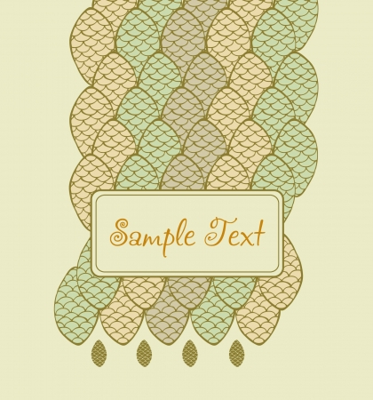 Abstract decorative background with place for your text  Pattern texture with text frame  Vector