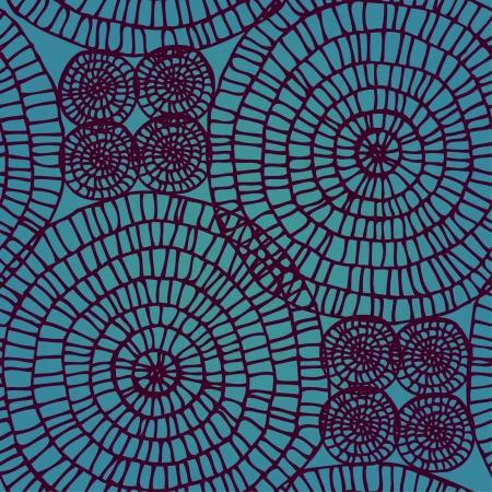 interweaving: Abstract seamless turbinio pizzo Circle texture pattern su sfondo acquamarina Vettoriali