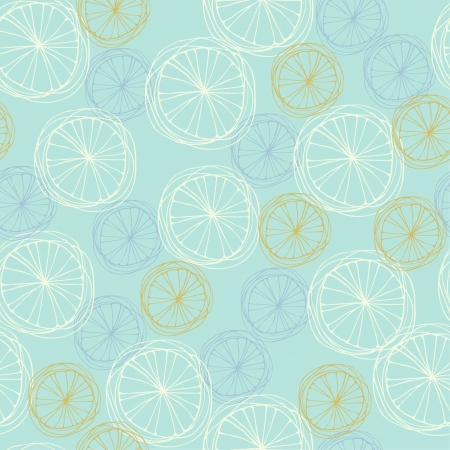 Abstract gentle seamless pattern with round elements  Bright summer texture  Vector