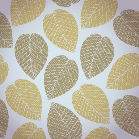 Autumn seamless pattern with colorful delicate stylized leaves  Abstract delicate light leaves texture on grey neutral background Stock Vector - 15497845