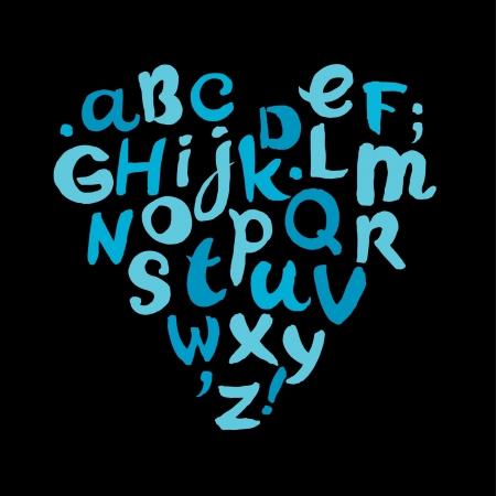 Hand written childish alphabet  Comic doodle font