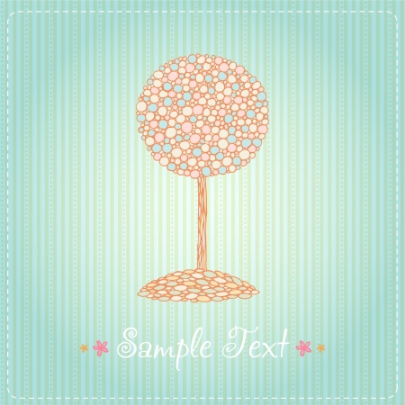 Text template background with illustration of decorative tree Vector