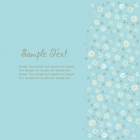 gentle background: Floral abstract gentle background with place for your text  Template for design greeting card  Illustration
