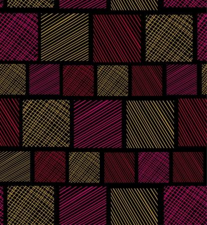 抽象的な明るいグラマー シームレス パターン民族線形シームレス テクスチャ  イラスト・ベクター素材
