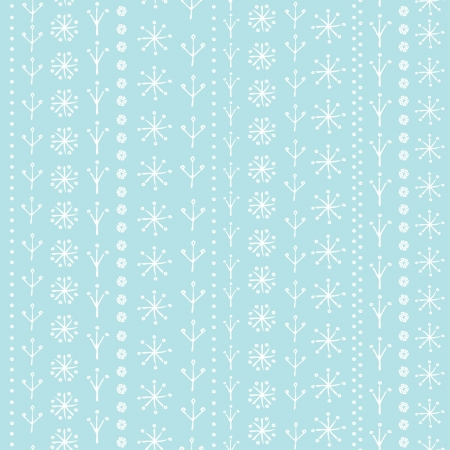 Winter seamless background for design greeting card, paper, textile  Decorative ornamental background  Blue gentle texture with snowflakes Vector