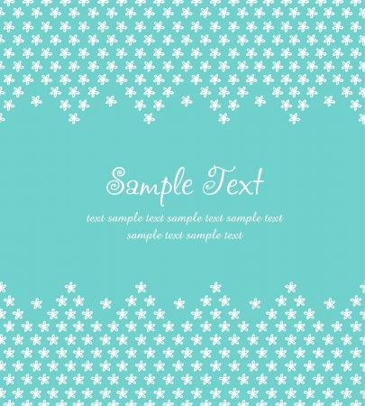 Blue romantic text background with floral pattern  Template for design greeting cards, packaging, invitations, Valentine s Day decoration Stock Vector - 15768982