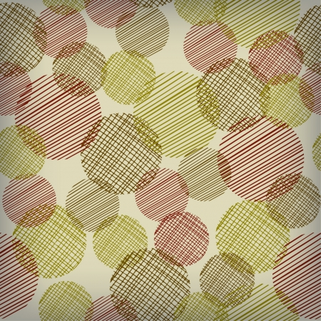 Seamless retro abstract circle pattern on light beige background  Neutral texture with transparent rounds