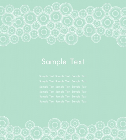 Template for design web page backgrounds, cards, flayers  Text background with colorful circle pattern