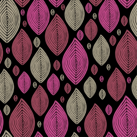 ethnic pattern: Abstract bright leaves seamless pattern  Seamless pink and grey leaves texture