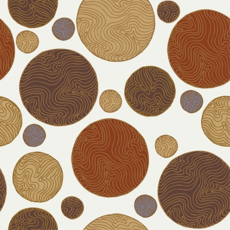 linear: Abstract decorative seamless texture with round elements  Vintage endless circle pattern, template for design and decoration  Illustration