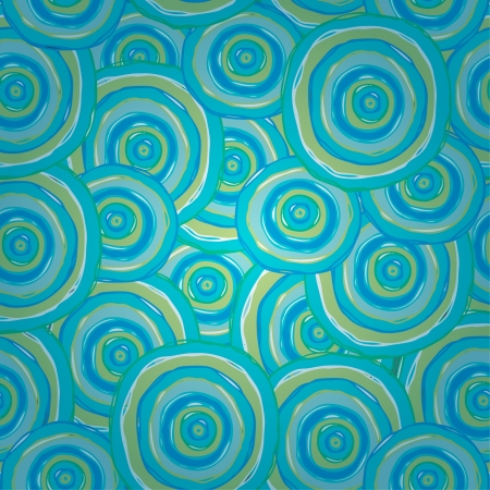 抽象的な無限の青螺線形パターン設計織物、包装紙、カラフルなラウンド テンプレートでシームレスなテクスチャをカバー、パッケージ、背景