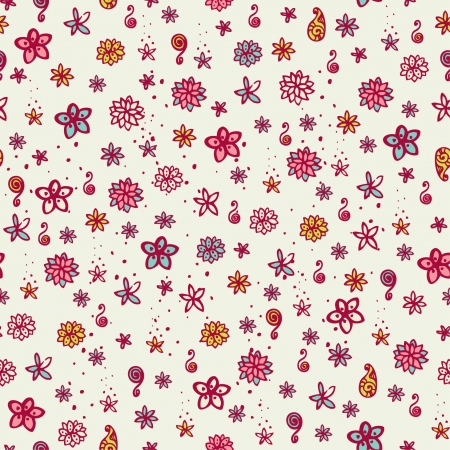 Neutral seamless texture with little flowers  Endless floral pattern, template for design and decoration textile, wrapping paper, backgrounds, package Stock Vector - 16641603