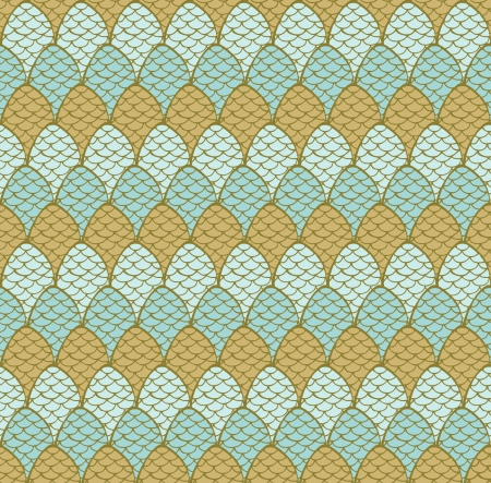 Seamless decorative hand drawn pattern with decorative cones  Endless colorful texture Template for design textile, wrapping paper, backgrounds, package Stock Vector - 16641618