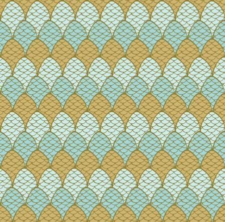 plaited: Seamless mano dibujado patr�n decorativo con conos decorativos plantilla Endless textura de colores para el dise�o textil, papel de regalo, fondos, paquete