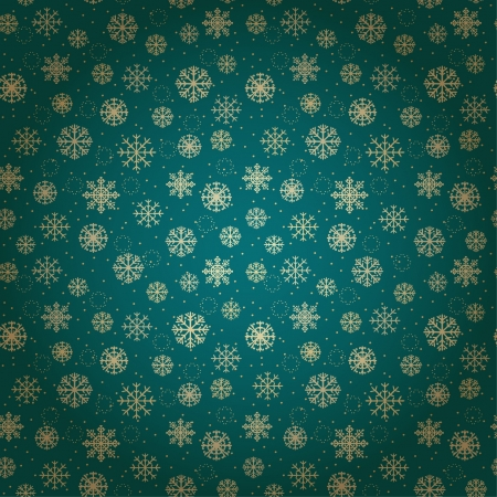 Seamless festive pattern with ornamental snowflakes  Blue endless abstract texture  Template for design and decoration  Stock Vector - 16641949