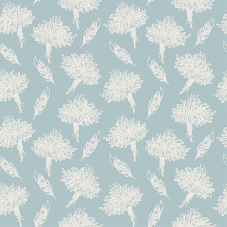 Seamless light old pattern with hand drawn gorgeous flowers and leaves  Template for decoration and design textile, wrapping paper, package, covers, greeting cards  Stock Vector - 16641947