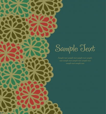 Template for design and decoration greeting card with flowers and place for your text  Vector