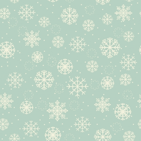 Winter seamless texture with ornamental snowflakes  Old pattern, for design Christmas greeting cards, backgrounds, textile, package, wrapping paper  Stock Vector - 16641928