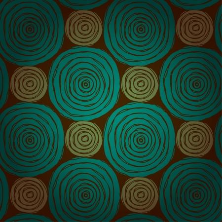 抽象的な円形のシームレスなテクスチャの大まかな落書きで明るい民族無限パターンのデザインと装飾のためのテンプレートをラウンドします。  イラスト・ベクター素材