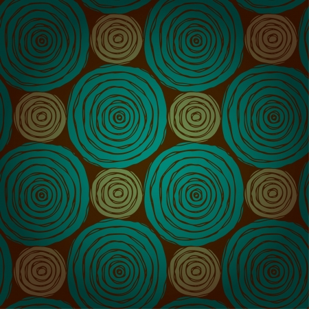 Abstract circle seamless texture  Bright ethnic endless pattern with rough scribble rounds  Template for design and decoration