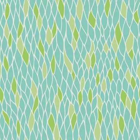 Abstract gestileerd naadloze natuurlijke patroon met bladeren Endless lineaire textuur sjabloon voor design textiel, backgroungs, inpakpapier Vector Illustratie