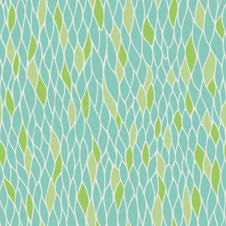 Abstract stylized seamless natural pattern with leaves  Endless linear texture  Template for design textile, backgroungs, wrapping paper