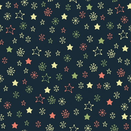 Endless cute hand drawn texture  Seamless pattern with snowflakes  Template for design textile, backgrounds, wrapping paper, package  Stock Vector - 17272522