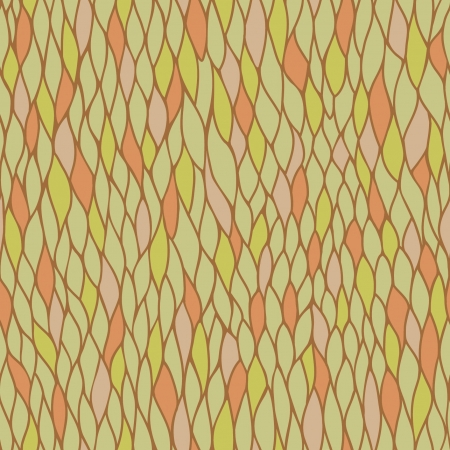 Seamless linear pattern with leaves  Endless plaited abstract texture  Template for design and decoration  Vector