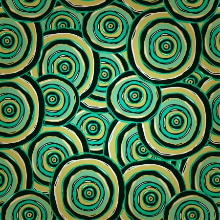 Abstract endless texture  Circle green seamless pattern  Template for design textile, backgrounds, package, wrapping paper  Stock Vector - 17272573