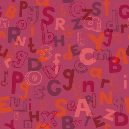 Endless texture with hand written font  Seamless alphabet pattern  Template for design textile, backgrounds, package Stock Vector - 17272547