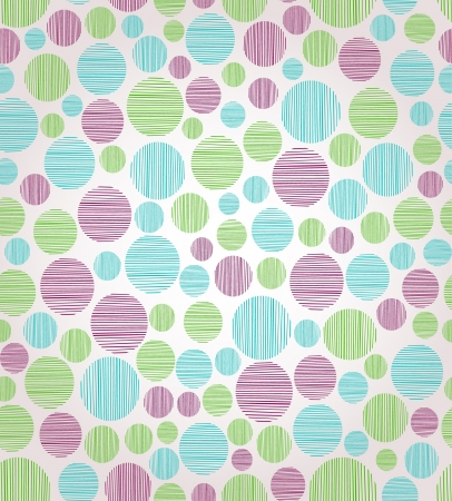 Seamless abstract circle pattern  Endless linear texture with decorative round elements  Illustration