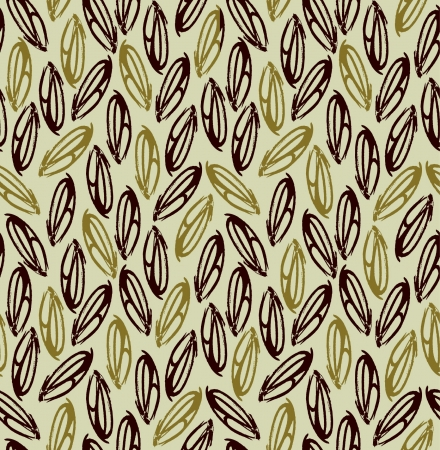 Decorative seamless golden pattern  Endless abstract beige texture with leaves  Template for design backgrounds, textile, package, wrapping paper  Vector