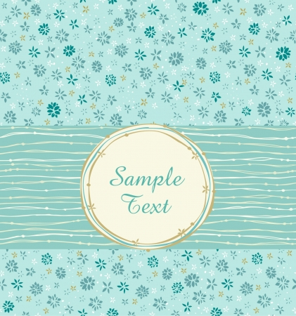 embroider: Text background with floral pattern  Template for design greeting cards with ornament and text frame