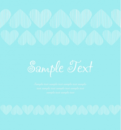Template for design with romantic pattern and sample text  blue ornamental background Stock Vector - 18035850