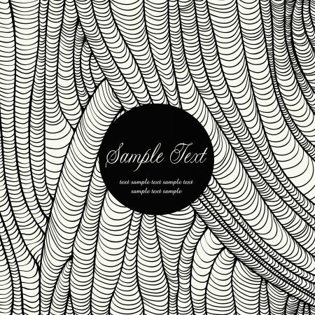 黒と白のデザインのラウンド テキスト テンプレートでのグラフィックの背景をカバー、招待状、パッケージ、グリーティング カード  イラスト・ベクター素材