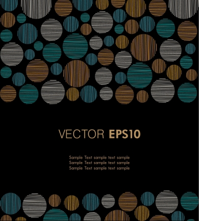 Bright text background with abstract linear round pattern  Template for design and decoration with geometric pattern and place for your text