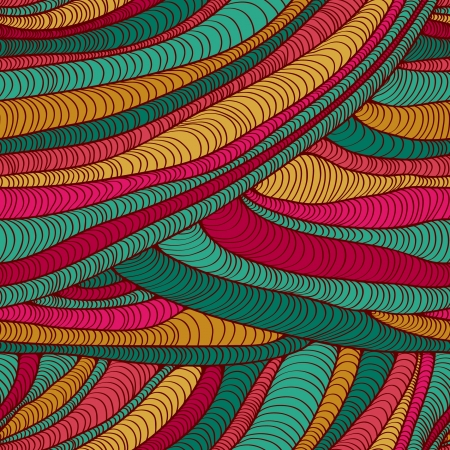 Colorful abstract decorative pattern  Stylized endless hand drawn fabric texture  Template for design and decoration