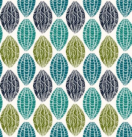 装飾的なシームレス テクスチャ カラフルな無限民族パターン テンプレート デザインと装飾のため  イラスト・ベクター素材