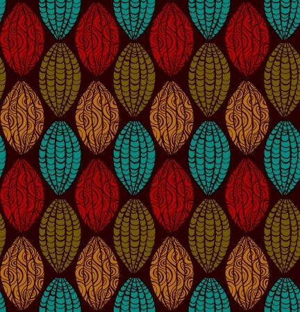 民族の装飾的なシームレス パターン抽象無限テクスチャ テンプレート デザインと装飾の様式化されました。