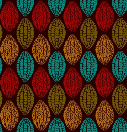 african fabric: Ethnic ornamental seamless pattern  Abstract stylized endless texture  Template for design and decoration  Illustration