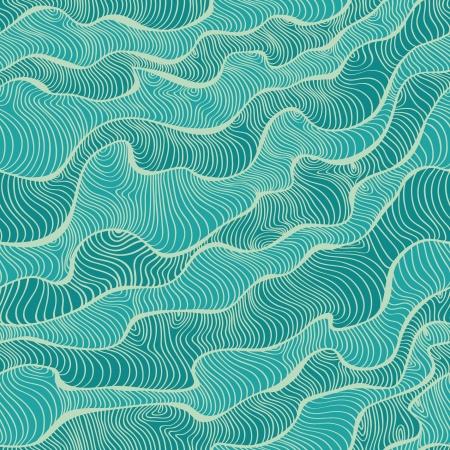 海テクスチャ装飾的なブルーのシームレスなパターン テンプレート デザイン テキスタイル、背景、壁紙、パッケージ、カバー、ラッパー