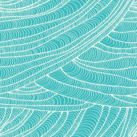 Seamless blue texture with wavy lines  Abstract plaited linear seamless pattern  Template for design and decoration  Stock Vector - 18089143