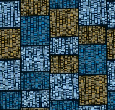 抽象的なブルーのシームレスなパターンは無限テクスチャ テンプレート設計織物, 背景, ラッパーを様式化されました。  イラスト・ベクター素材