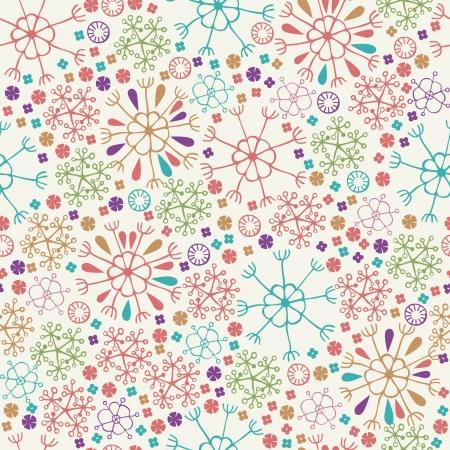 デザインと装飾のための花と花びらの無限春テクスチャ テンプレートとカラフルな様式化されたシームレスなパターン