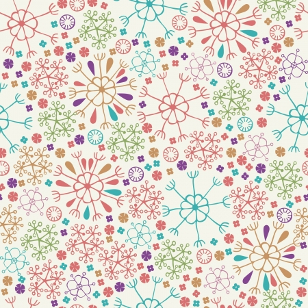 Colorful stylized seamless pattern with flowers and petals  Endless spring texture  Template for design and decoration